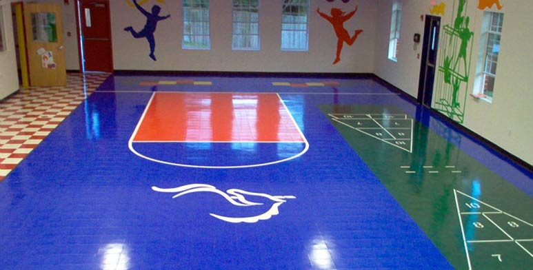 Sports courts indoor courts and outdoor courts residential for Indoor residential basketball court