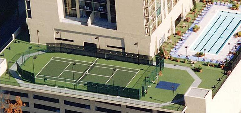 Rooftop Tennis Court And Other Rooftop Courts Sport