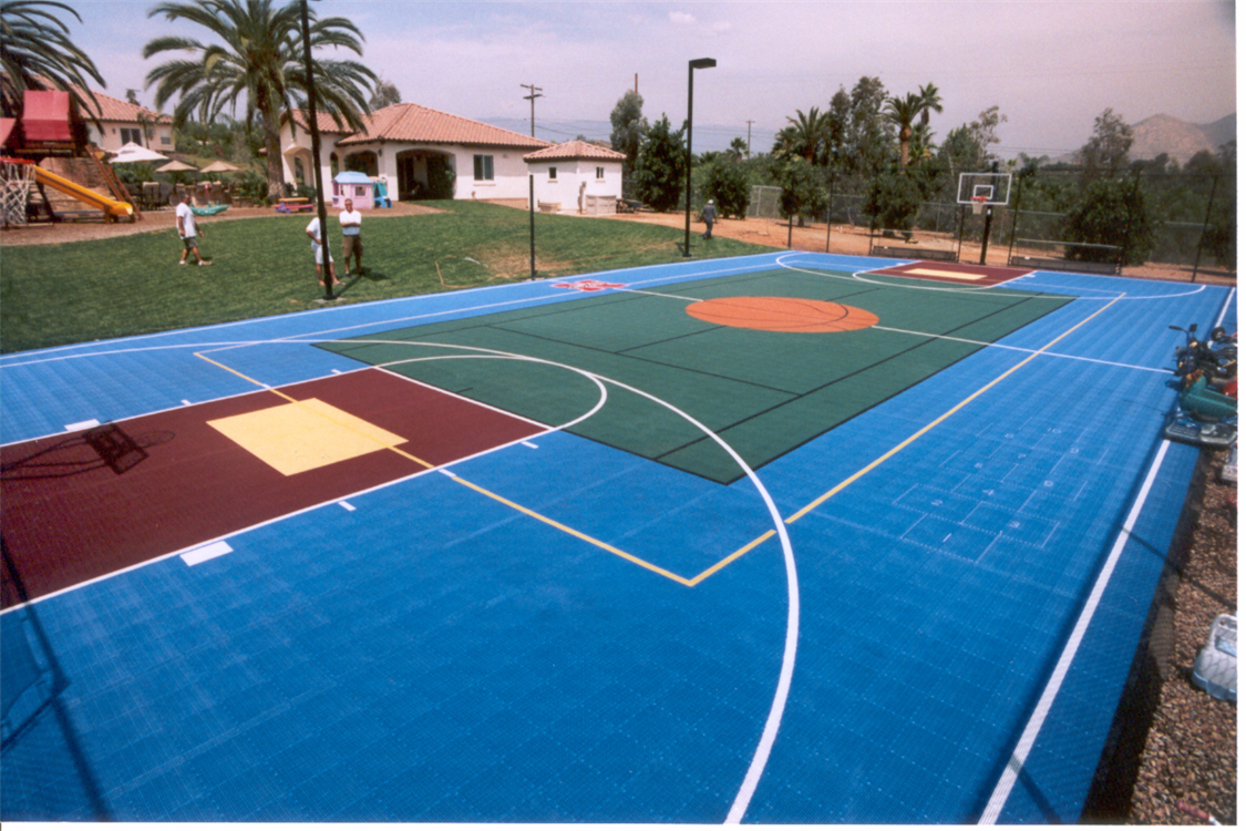 Sport courts images and picture gallery indoor and for Backyard sport court