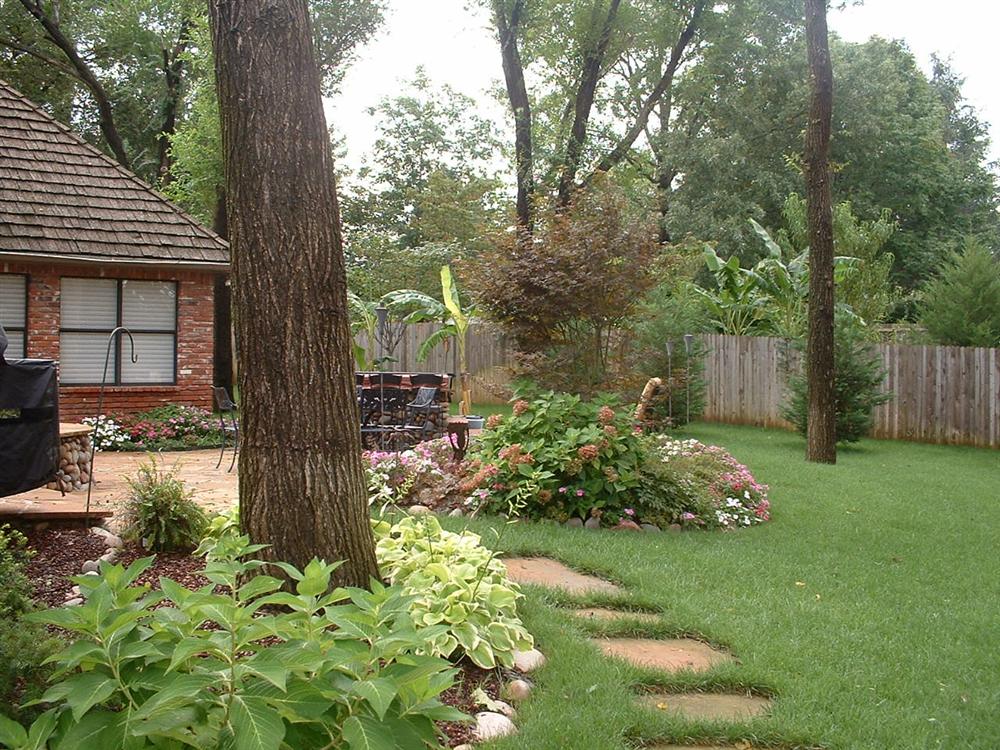 Backyard Hardscape Designs : Backyard Landscape hardscape ideas in Tulsa