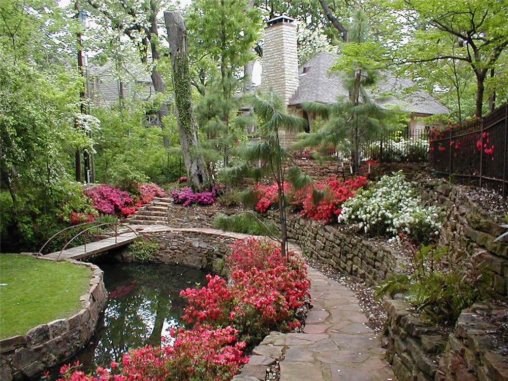 Backyard landscape hardscape ideas in tulsa Backyard landscape photos ideas
