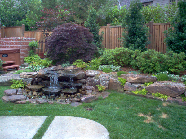 Tulsa landscape water feaure - Cozy outdoor living spaces connecting mother nature ...