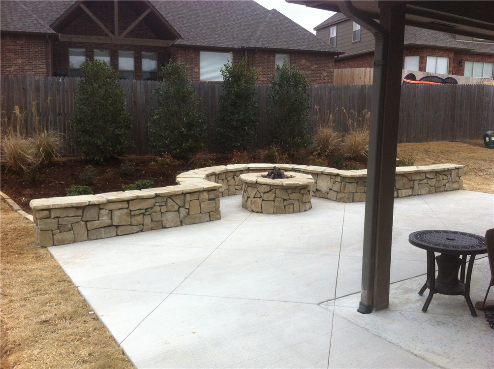 Patio Extension With Seatwall, Firepit, U0026 Landscaping