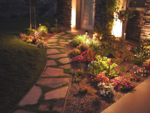 Tulsa Landscape Lighting a sidewalk resized 216