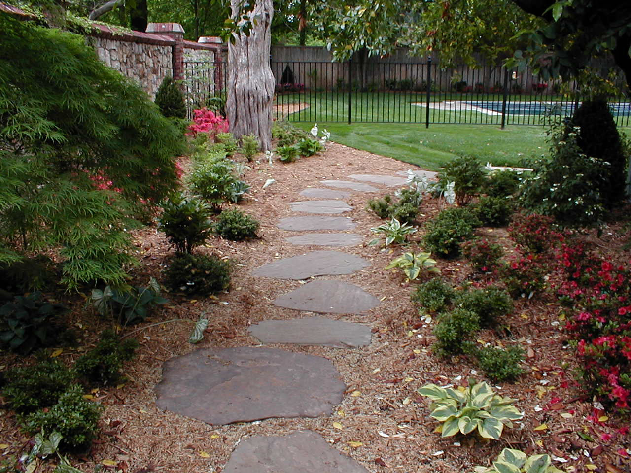 Backyard Landscape Hardscape Ideas In Tulsa - Backyard hardscape ideas