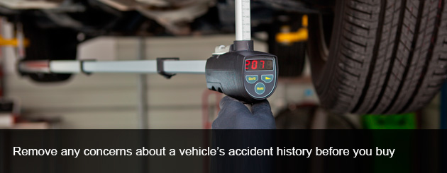 Remove any concerns about a vehicle's accident history before you buy.