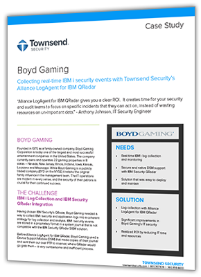 PDF of Boyd Gaming Case Study of LogAgent for QRadar