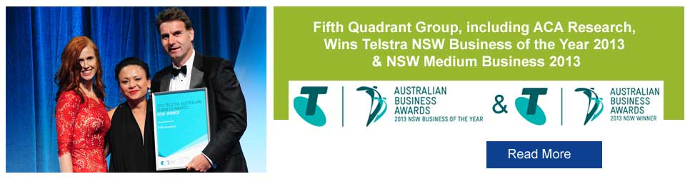 telstra business awards, market research australia, aca research