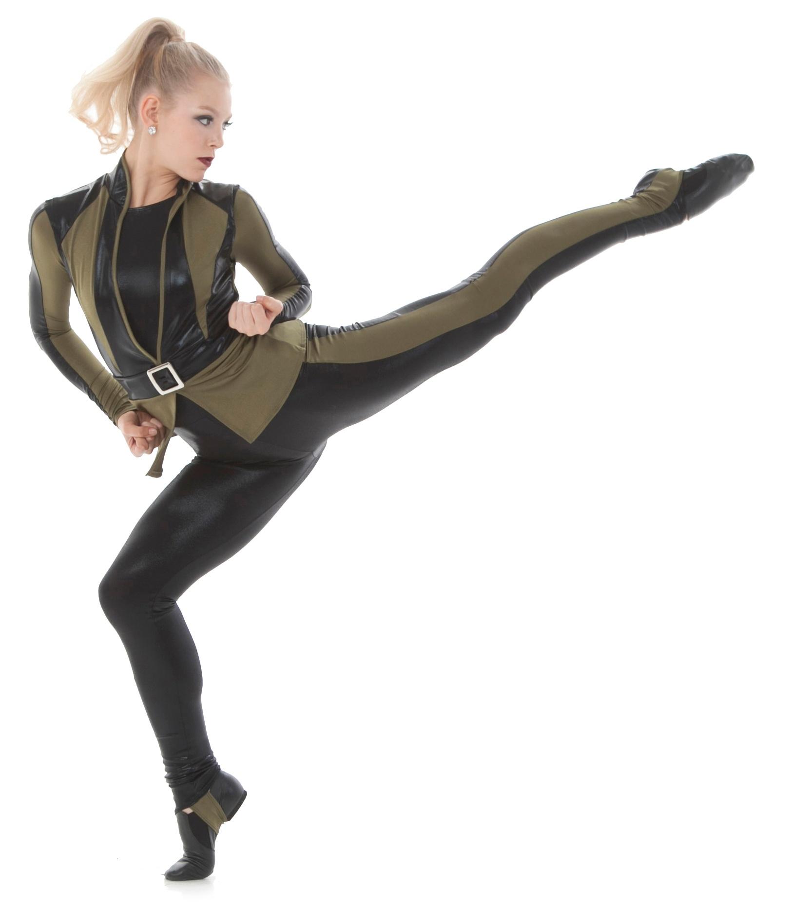 High kick military themed dance costume