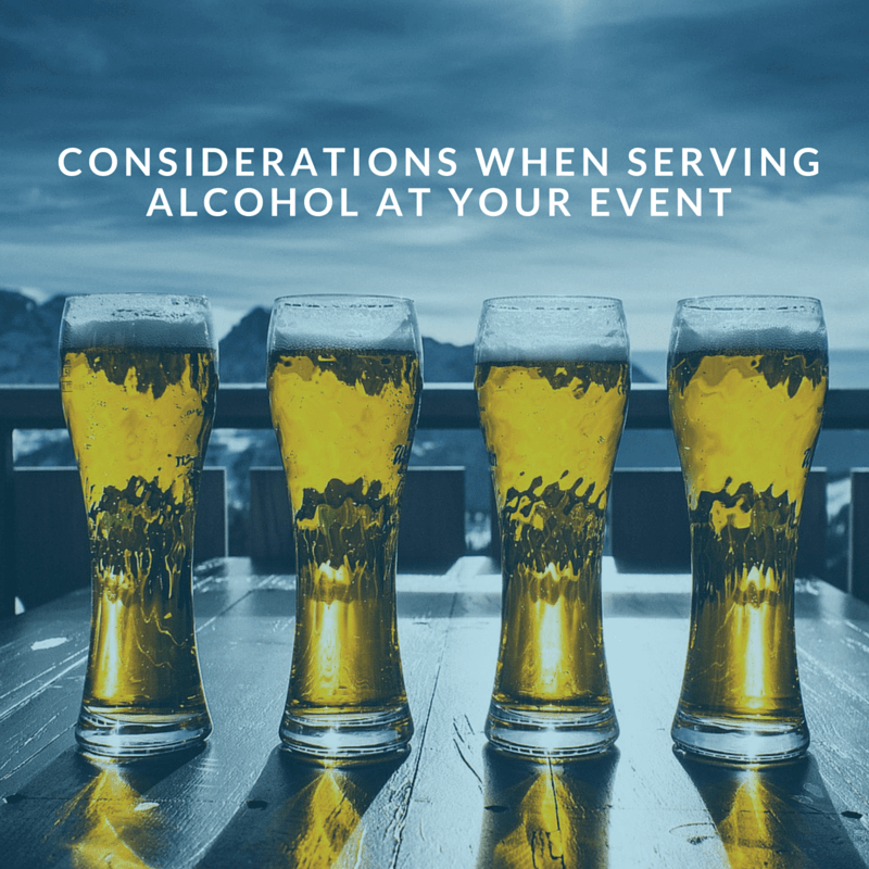 Considerations when serving Alcohol at your Event