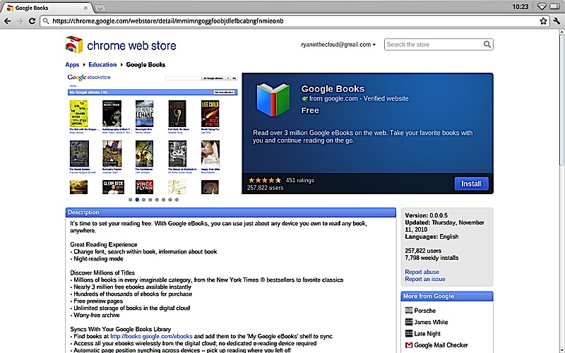 Chrome App Store eBooks