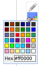 drawing color palette