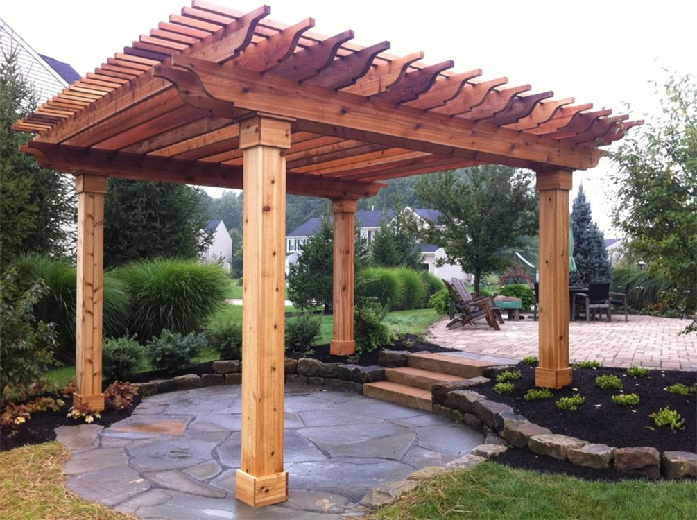 Woodwork cedar pergola designs pdf plans for Pergola designs