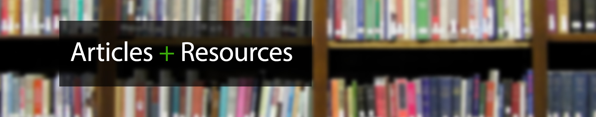 Articles Resources Banner2