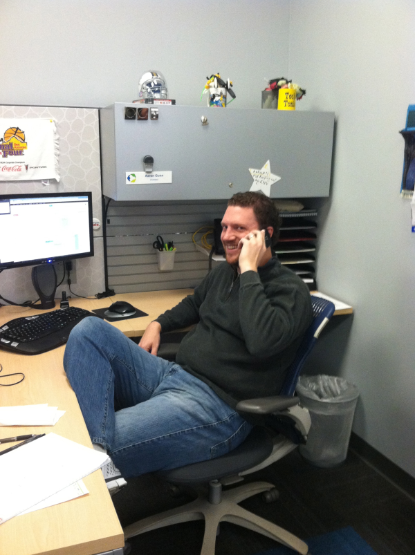 Aaron, our Principal Architect, hard at work
