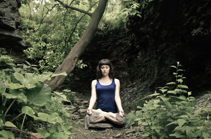Erin_Meditating_in_the_Woods_(rectangle)