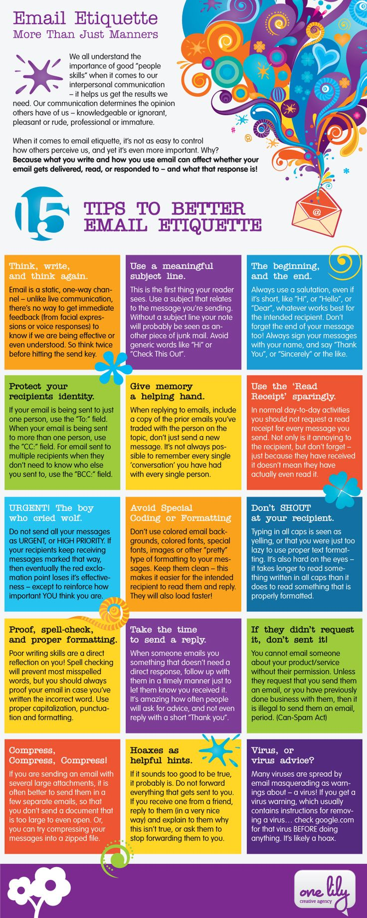 15 Tips on Writing Email for Business Communication [INFOGRAPHIC]