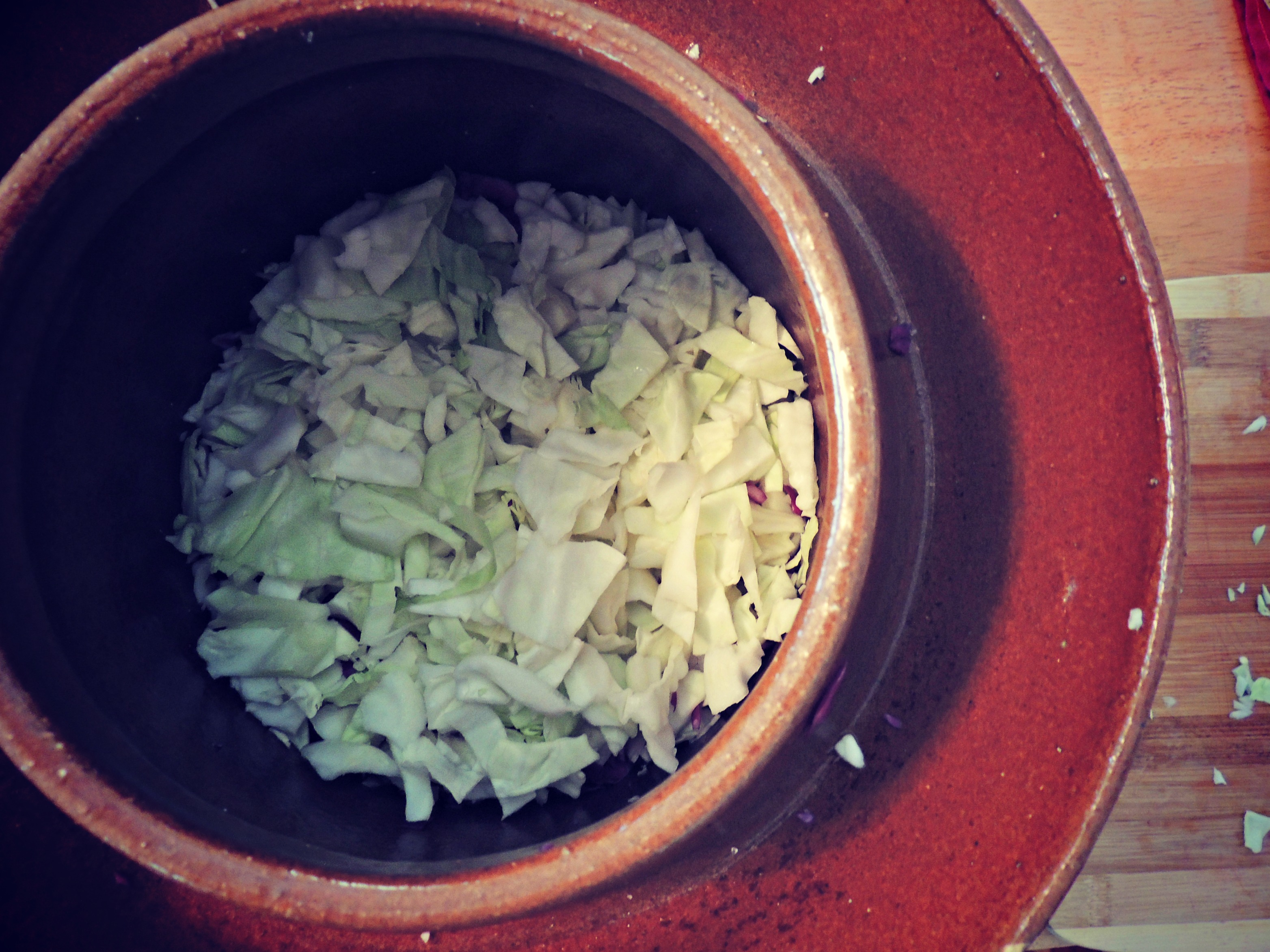 Fermenting Crock Cabbage