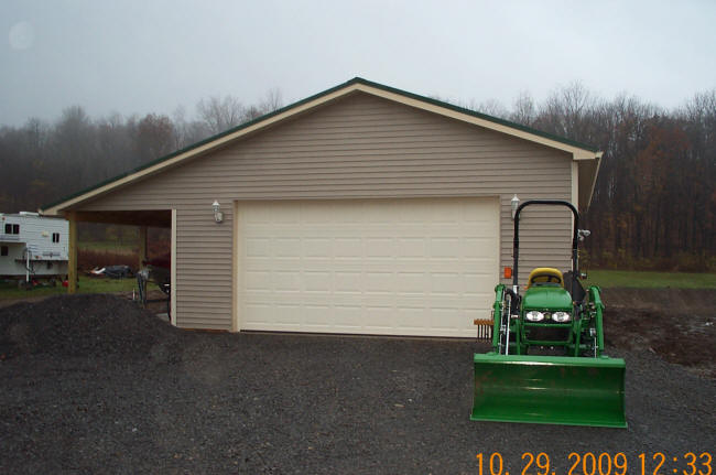 Garage additions gerber homes remodeling rochester ny area for Garage overhang