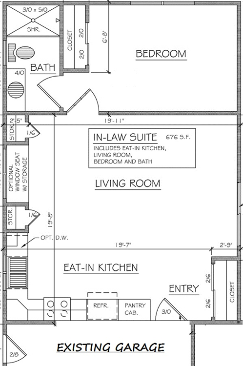 In law additions gerber homes remodeling rochester ny for Floor plans for in law suite addition
