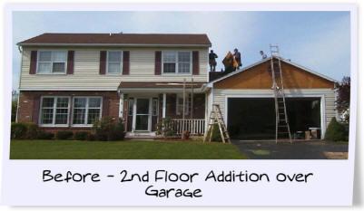 Home additions gerber homes gerber homes remodeling for Addition over garage