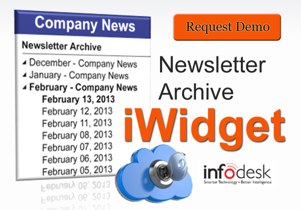 Newsletter Archive iWidget