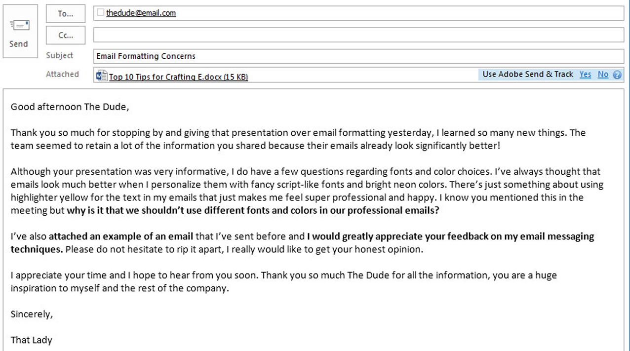 resume emails