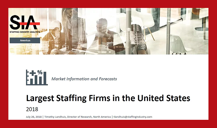 SIA Names the Largest IT Staffing Firms