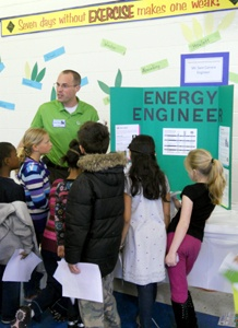 kids learning about energy efficient lightbulbs
