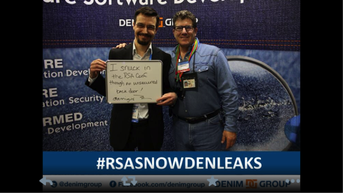Denim Group created a funny trending twitter topic at RSA Conference