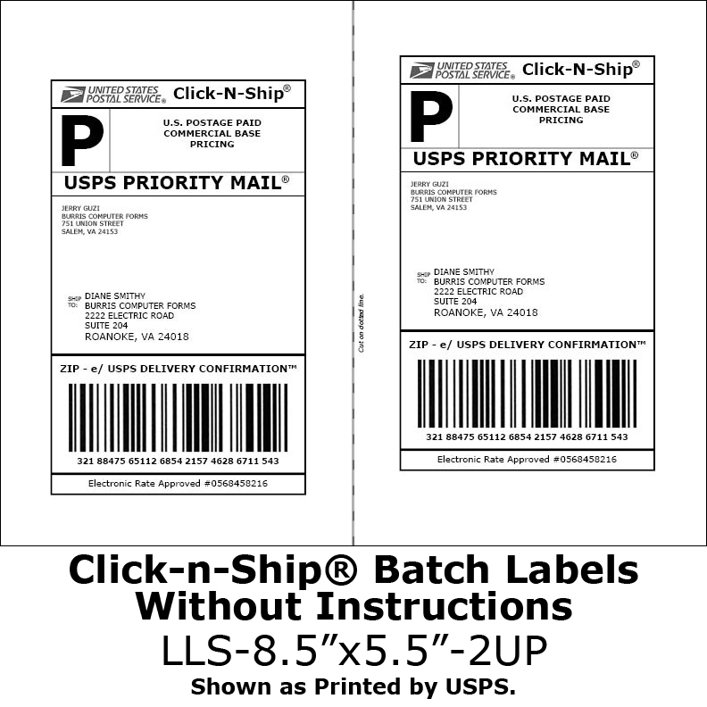 Shipping label templates the best free software for your for Half page shipping label template