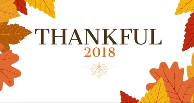 Thankful 2018