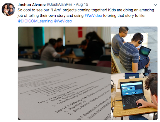 tweet from a teacher