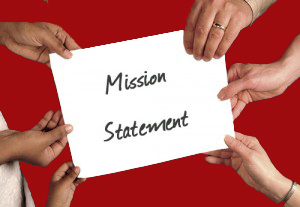 Writing a mission statement is a group effort.