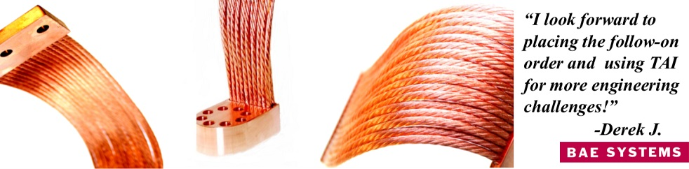 Thermal Straps - Flexible Thermal Links made of Copper