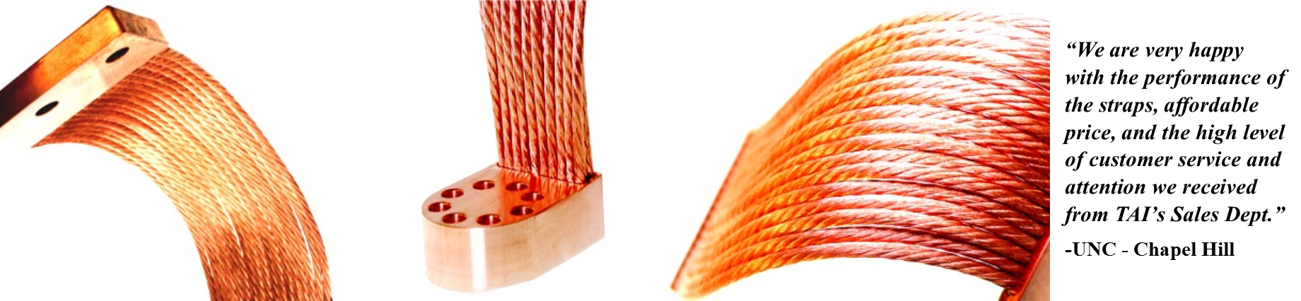 Flexible Thermal Links - High Conductance Copper Thermal Straps