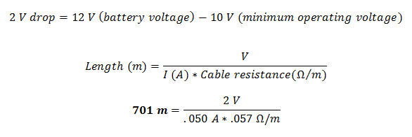 Calculating Voltage Drop on AS-Interface