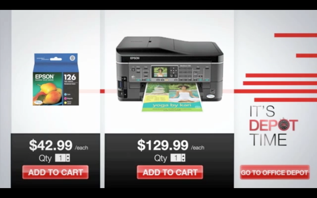 Office Depot Real Time Video Ads