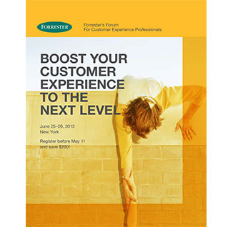 Forrester Customer Experience Forum 2013