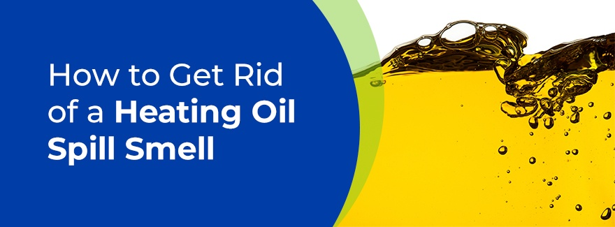 How to get rid of heating oil spill smell