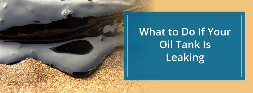 oil tanking leaking