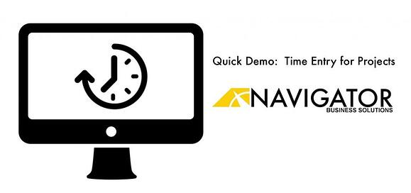 Navigator Quick Demo: Time Entry for Projects, SAP ByDesign