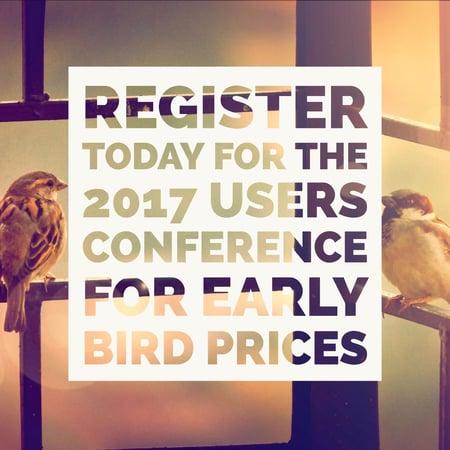Register for User Conference