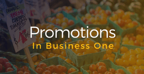 How-To: Promotions and Discounts in Business One