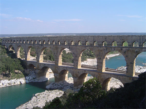 The Romans built this sweet aqueduct in France in the first century. It's 31 miles long. I wish I had an aqueduct like this.