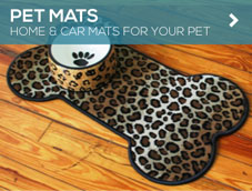 GGBailey.com Pet Mats help protect your floor from stains and moisture.