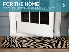Home mats from GGBailey.com are perfect for the kitchen, bath and entry