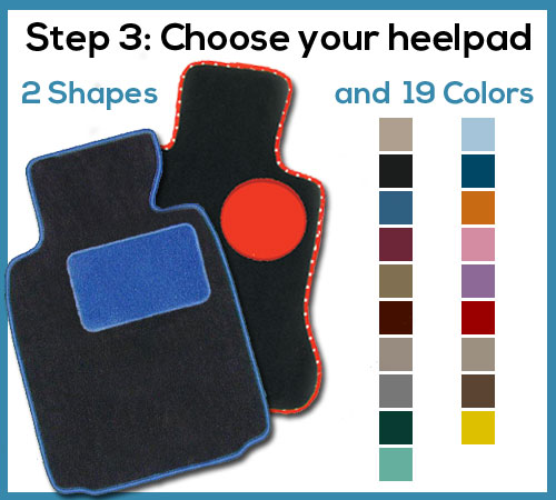 design your floor mat heelpad