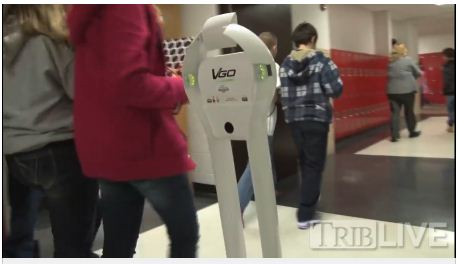 Robot Connects Curriculum to Students