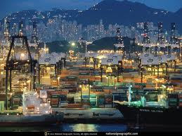 Overseas ocean containers Hong Kong Port